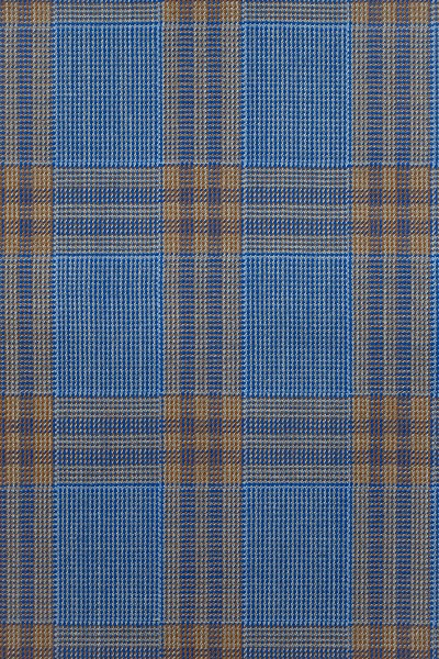 Light Blue and Brown Glen Check