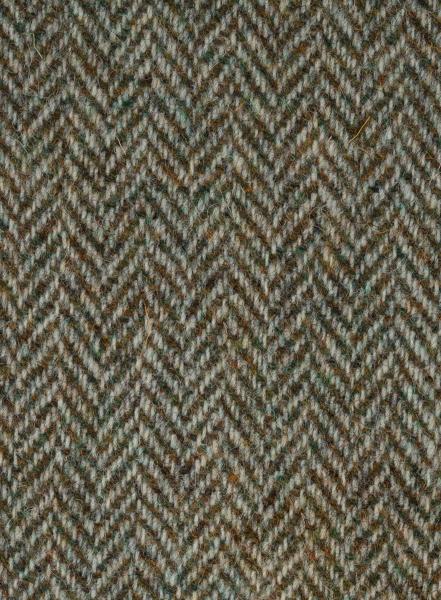 Green Herringbone with Beige