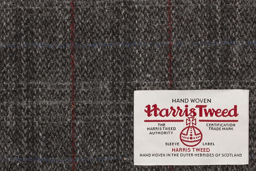 Grey With Blue & Red Check