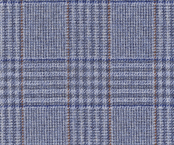 Slate Blue POW with Navy & Rust Over Check