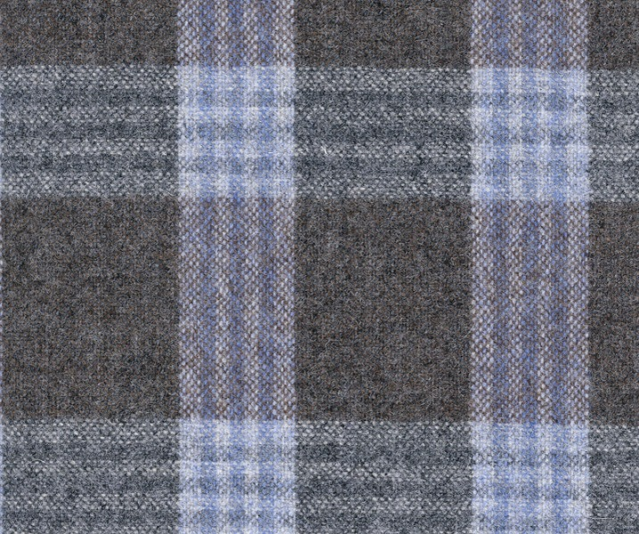Slate Blue with Triple Fawn Check